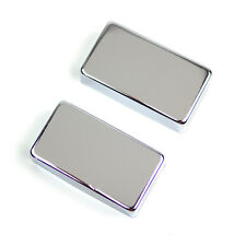 Metal Regular Humbucker Pickup Cover No Pole holes ,Chrome (set of 2)
