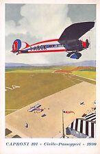 """C5076) AVIAZIONE, CAPRONI 101 CIVILE PASSEGGERI 1930 """"SENZA COZZAR DIROCCO""""."""