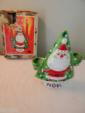 Vintage 1959 Napco Santa Christmas Tree Noel Candle Holder IOB Japan HTF