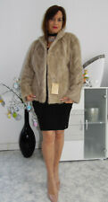 Pelzmantel Nerzjacke echt Pelz Mink Fur coat pelliccia visone vison Fourrure Fox