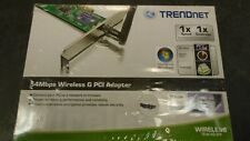 Trendnet TEW-423PI 54Mbps 802.11g Wireless G PCI Adapter