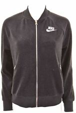 NIKE Womens Tracksuit Top Jacket Size 10 Small Black Polyester Loose Fit  CJ13