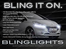 2012 2013 2014 Peugeot 208 LED DRL Head Light Strips Day Time Running Lamps Kit