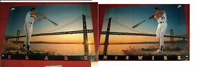 Sealed HTF Rare New Mark McGwire and Will Clark Bay Bridge Nike Posters Vintage