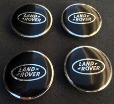 """4x LAND ROVER RANGE ROVER LR WHEEL CENTER HUB CAPS BLACK CHROME 63mm 2.5"""""""