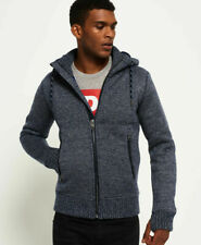 New Mens Superdry Mens Expedition Zip Hooded Jacket Denim