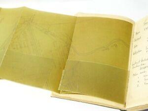 1919 Leeds Corp Sanitation Reservoirs Construction Manuscript Engineer Note Book