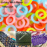 Plastic Latching Crochet Ring Locking Stitch Markers mark circle knitting tool