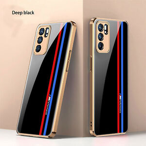 For Oppo Reno 6 5G/Op Reno 6Pro Mobile Phone Tempered Glass TPU Phone Case Cover