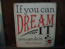 METAL WALT DISNEY MICKEY MOUSE DREAM SIGN* ears shoes character shop red black