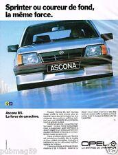 Publicité advertising 1985 Opel Ascona