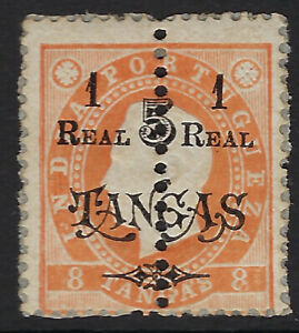 PORTUGUESE INDIA:1911 1r on 5t on 8t perf 12 1/2 SG362 no gum as issued