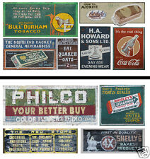 HO Scale Ghost Sign 2-Pack #21 - Great for Weathering Buildings & Structures!
