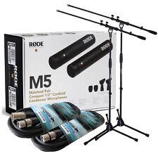 Rode M5 MP, Stereo Paar Kondensator Mikrofon + 2x Keepdrum Stativ + 2x Kabel