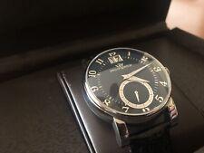 Orologio Philip Watch WALES acciaio e Fondo Black Cinturino Coccodrillo Nero