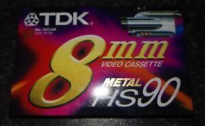 TDK 8mm video cassette Metal HS90 new
