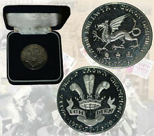 Galles Triple Crown CHAMPIONS 1976-1979 in Scatola color ARGENTO MEDAGLIA Rugby