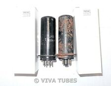 NOS Date Matched Pair Ken-Rad USA JAN-CKR-6L6 Metal MGK Vacuum Tubes 100+%