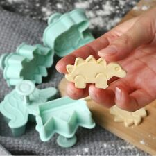 4Pcs Plastic Dinosaur Crown Unicorn Pastry Cookie Biscuit Cutter Cake Decor Mold