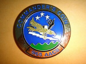 USAF 965th Aacs Commander's Pièce de Monnaie Toujours Vigilant 2-Side Challenge