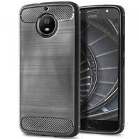 Bumper Protection Coque Pour Motorola Moto G5s Plus Poid Plume Fibre de carbone