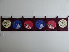"Japanese Geisha Noren Curtain 6-Panel 82 x 17.5"" Sushi Bar Doorway Room Divider"