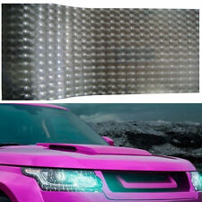 Light Black Car Headlight Sheet Sticker 3D Cat Eyes Look Tint Film Wrap 30x100CM