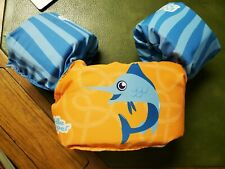 Puddle Jumper Marlin Blue & Orange Ocean Life Jacket 30 - 50 Lbs Kids Swim Aid