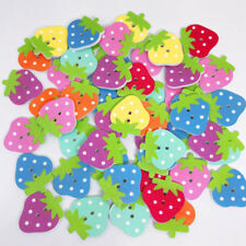 Strawberry Wooden Buttons Coating Snaps for Shirt Sewing Scrapbook Making Shan