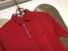 Burberry Brit Polo Mens Short Sleeve Shirt Red Size Medium Golf Top