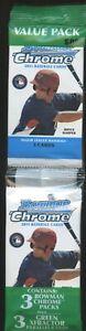 2011 BOWMAN CHROME BASEBALL CARD PACK VALUE PACK – INCLUDES 3 PACKS & 3 XFRACTOR