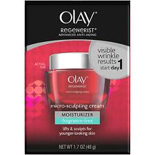 Olay Regenerist Anti-Aging Micro-Sculpting Cream Fragrance-Free 1.7 Fl Oz