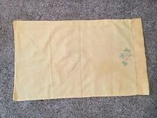 New listing vintage linen pillowcases - Yellow