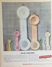 Lot 3 Vintage Western Electric Advertisements Color, Everyone?