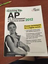 AP US GOVERNMENT AND POLITICS- PRINCETON REVIEW 2012 USED
