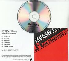 KRAFTWERK The Man Machine 2009 UK Mute remastered 6-track promo test CD