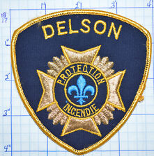 CANADA, DELSON FIRE PROTECTION INCENDIE QUEBEC GOLD EDGE PATCH