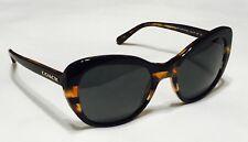 Coach Sunglasses HC8204 (L 1631) 544380 Black Tortoise Glitter Varsity Stripe