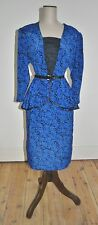 Vintage 80's NICOLE CREATIONS Peplum Skirt Feature Dress