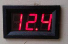 Caravan Campervan Motorhome Digital Red LED Voltmeter 12v or 24v Battery Solar