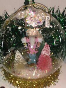 Anthropologie Snowglobe Ornament- Nutcracker King
