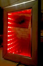 Ied Modern, Handmade, New, Infinity Illusion Mirror, Wooden Look