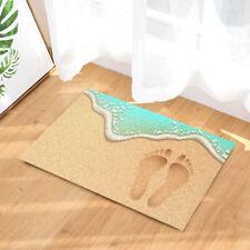 New Door Mat Bathroom Rug Bedroom Carpet Bath Mat Rug Non-Slip Beach footprints