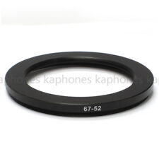 67-52mm Step-Down Metal Lens Adapter Filter Ring / 67mm Lens to 52mm Accessory