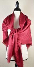 NEW LV Monogram BRICK RED Silk Scarf/Shawl 100% Authentic M72237 Louis Vuitton