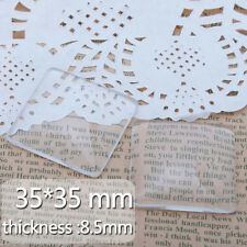 20Pcs 35*35MM Clear Square Flat Back Crystal Glass Dome Cabochons C3690