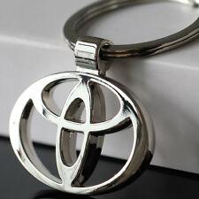 NEW hot TOYOTA/toyota Car KeyRing STAINLESS CAR LOGO FOB  KEY RING KEY CHAIN