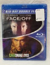 """Blu-Ray Double Feature New Dvd Set Sealed Nicolas Cage """"Face/Off"""" - """"Snake Eyes"""""""