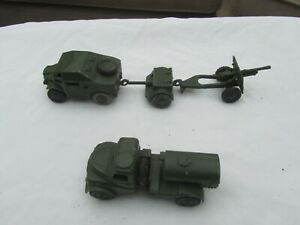 Dinky toys-military : field artillery tractor, trailer and field gun. Army water
