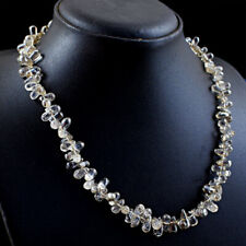 175.00 Cts Natural Rutile Quartz Beads Untreated Handmade Necklace NK 62E114